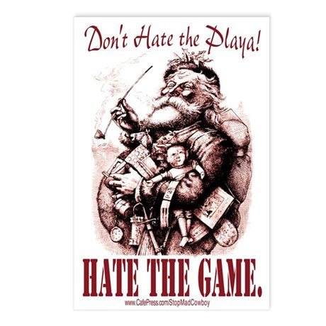Don't Hate Santa Postcards (Package of 8)