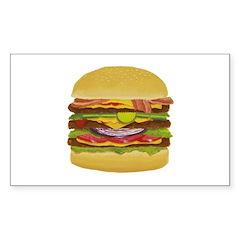 cheeseburger king Rectangle Decal
