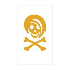 Li'l Spice Girlie Skull Rectangle Sticker 10 pk)
