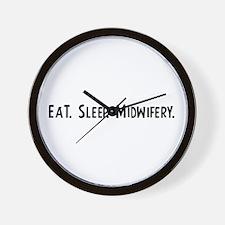 Eat, Sleep, Midwifery Wall Clock