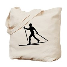 Cross Country Skiing Tote Bag