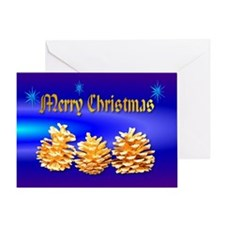 Merry Christmas Pinecones Greeting Card