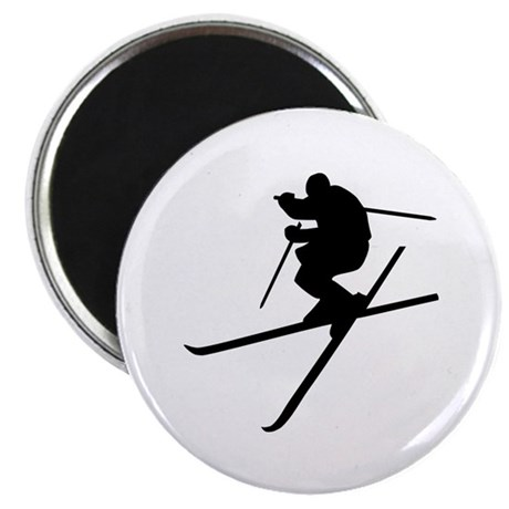 """Skiing - Ski Freestyle 2.25"""" Magnet (10 pack)"""
