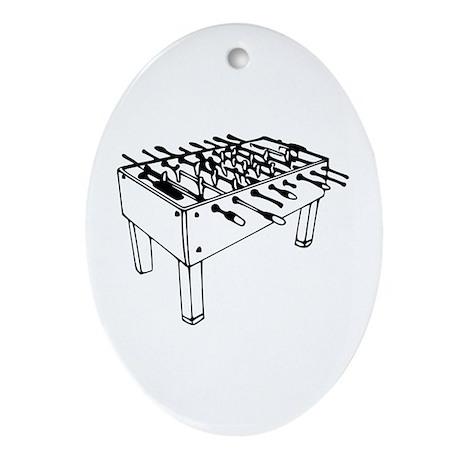 Foosball - Table soccer Oval Ornament
