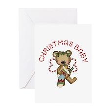 Christmas Angel Bear Baby Greeting Card