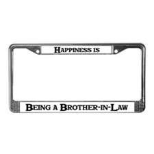 Happiness: Brother-in-Law License Plate Frame