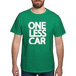 One Less Car Biker Dark T-Shirt