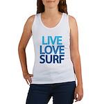 Live Love Surf Women's Tank Top