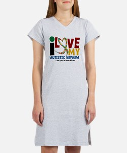 I Love My Autistic Nephew 2 T-Shirt