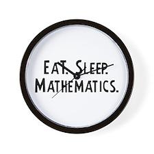 Eat, Sleep, Mathematics Wall Clock