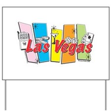 Las Vegas Retro Yard Sign