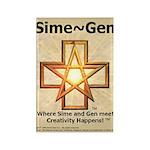 Sime~Gen Rectangle Magnet