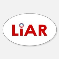 Obama's a Liar Oval Decal