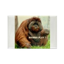 WANTTA PLAY? Rectangle Magnet