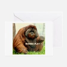 WANTTA PLAY? Greeting Card