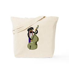 Dachshund Bass Player Tote Bag