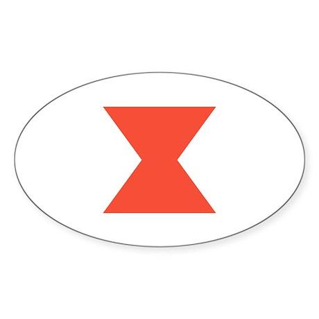 Widow Mark Oval Sticker