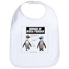 Beware of Ninja Penguin Bib