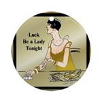 Lady Luck Ornament (Round)