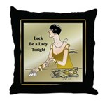 Lady Luck Throw Pillow
