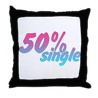 50% Single Throw Pillow
