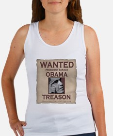 Obama Wanted For Treason Women's Tank Top