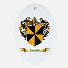 Campbell Shield Oval Ornament