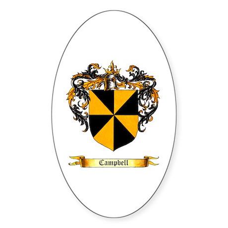 Campbell Shield Oval Sticker