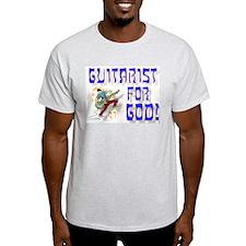 Christian Guitar for God Ash Grey T-Shirt