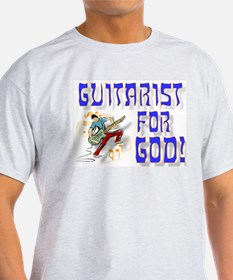 Christian Guitar for God Ash Grey T-Shirt