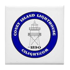 Coney Island Lighthouse Tile Coaster