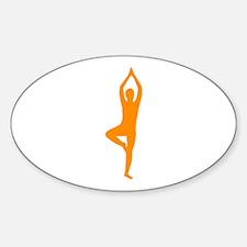 Yoga Oval Sticker (10 pk)
