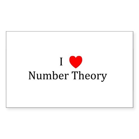 I Heart Number Theory Rectangle Sticker