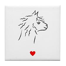 Alpaca Heart Tile Coaster
