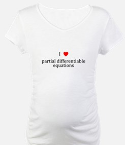 I Heart partial differentiable equations Shirt
