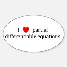 I Heart partial differentiable equations Decal
