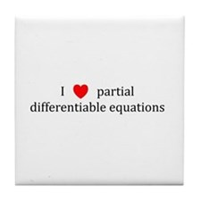 I Heart partial differentiable equations Tile Coas
