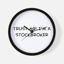 Trust Me: Stockbroker Wall Clock