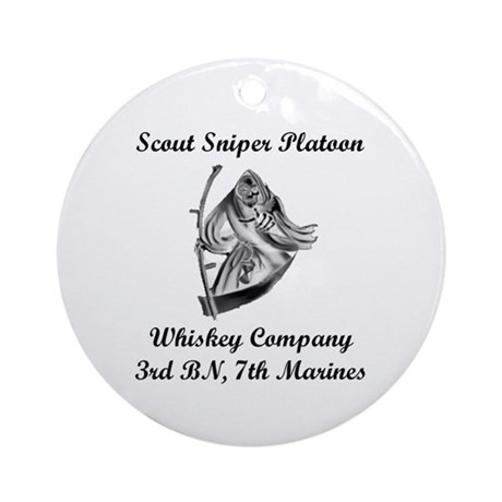 3/7 Whiskey Company Ornament (Round)
