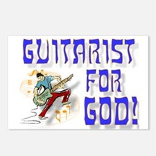Christian Guitar For God Postcards (Package of 8)
