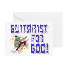Christian Guitar For God Greeting Cards (Package o