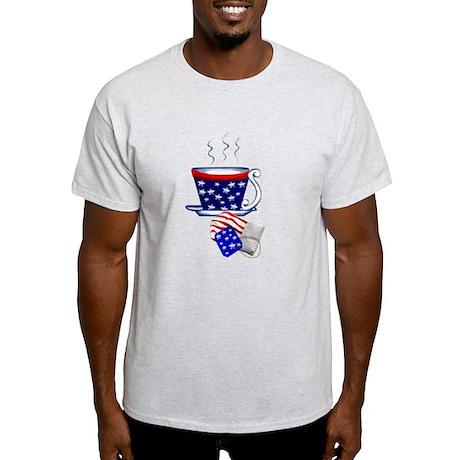 American Tea Cup and Bag Light T-Shirt