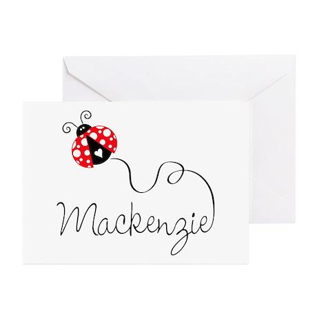 Ladybug Mackenzie Greeting Cards (Pk of 10)