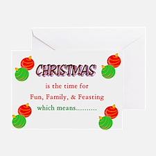 Crazy Christmas Cards Greeting Card