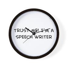 Trust Me: Speech Writer Wall Clock