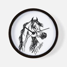 Arabian Stallion Bey Shah+ Wall Clock