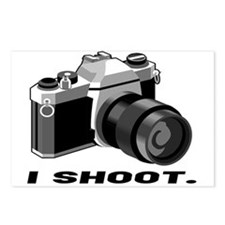 """""""I shoot"""" BW camera Postcards (Package of 8)"""