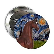 "Starry/Arabian horse (brn) 2.25"" Button"