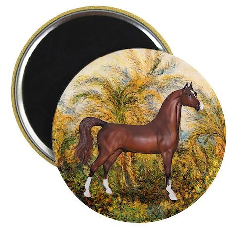 "Palms/Arabian horse (w) 2.25"" Magnet (100 pack)"
