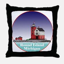 The Round Island Lighthouse Throw Pillow